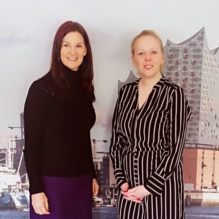 Miriam Molge und Inga Geerties vom ecos office center hamburg