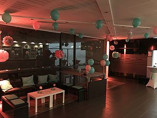 Loungeecke Eventlocation Body-Life Frankfurt
