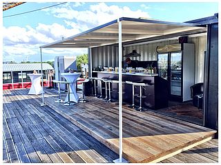 Hamburg Fleet 3 Dachterrasse mit Bar