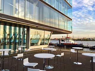 Hamburg Port View Terrasse
