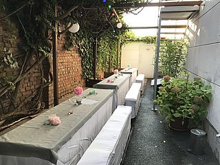 Terrasse links Eventlocation Body-Life Frankfurt
