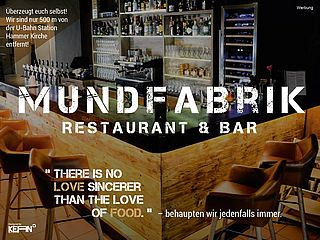 Restaurant und Bar Mundfabrik in Hamburg